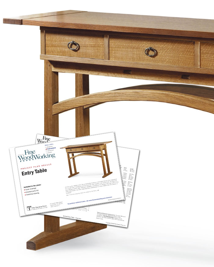 Fine Woodworking's Entry Table Plan (Digital)